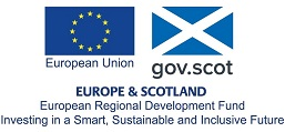 Europe and Scotland. European Regional Development Fund Investing in a Smart, Sustainable and Inclusive Future